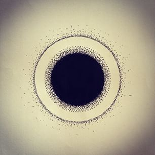 Instagram foto door hermanneinszufuffzig - Black hole #blackwork #dark #dotwork…