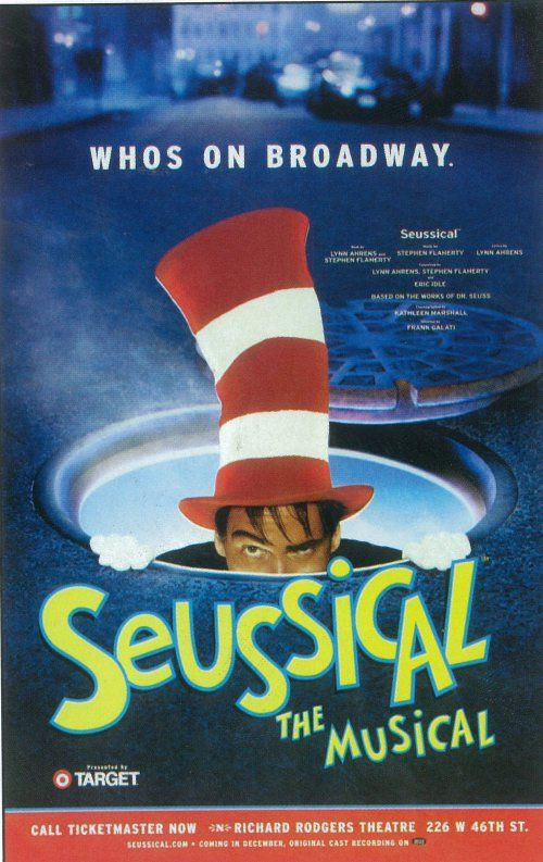 Image Detail for - Seussical (Broadway) movie posters at MovieGoods.com: Broadway Music, Seussical Posters, Blair Hall, Broadway Theater, Chamberlin Anthony, Posters Broadway, Anthony Blair, Broadway Posters, 11X17 Kevin