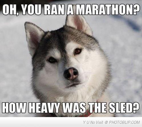 You Ran A Marathon?