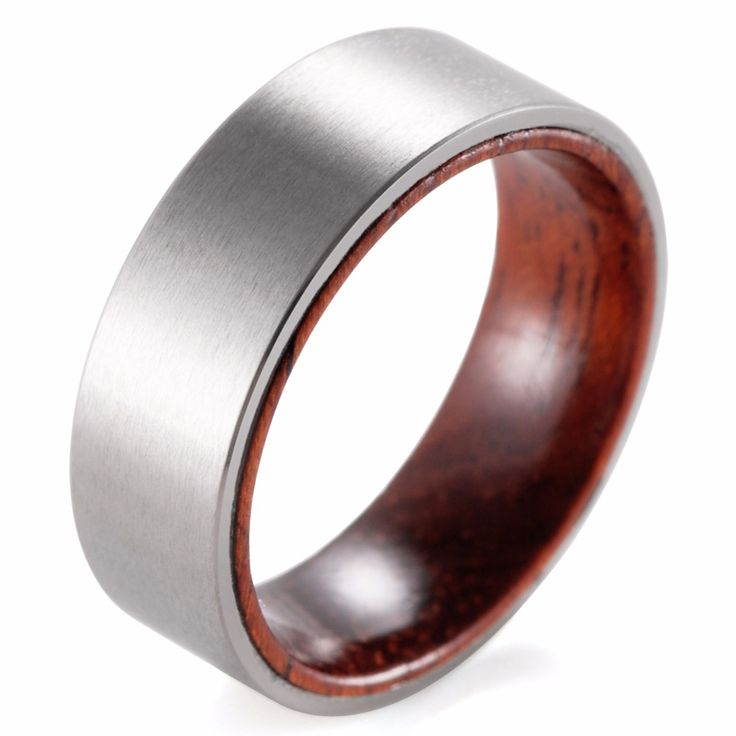 shardon 8mm titanium and koa wood ring with matte finishing mens wood ringswood wedding - Mens Wooden Wedding Rings