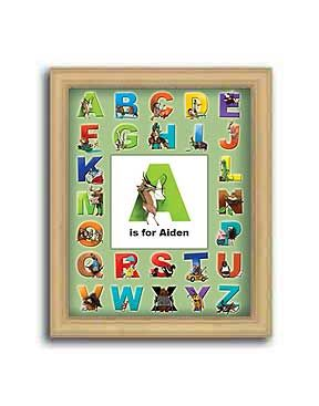 click here to find personalized abc print for little boys room there are fun illustrations - Fun Letters To Print