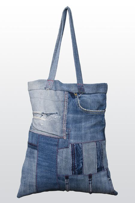 Tote bag, Recycled item - Von Hertzen Brothers. Designed and made by Jaana Bragge. Photo: Toni Ahonen.