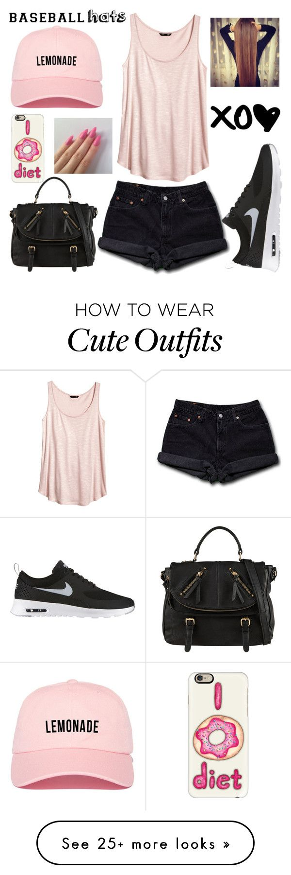 """""""Got to Outfit"""" by jmaebuena on Polyvore featuring H&M, Levi's, NIKE, Casetify, ALDO, baseballcap and baseballhats"""