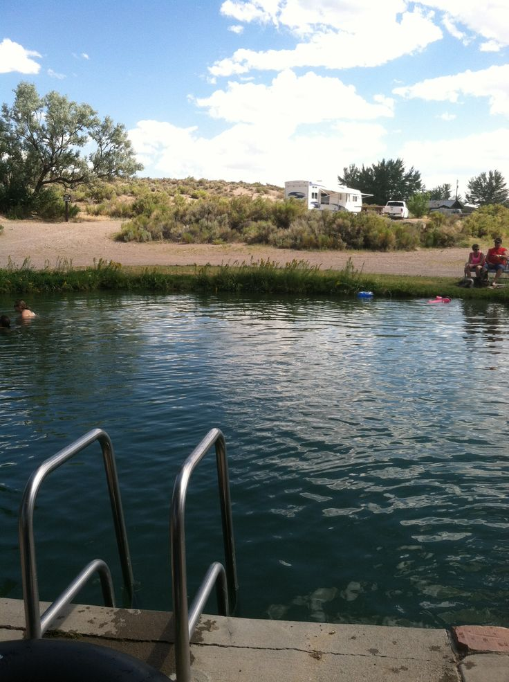 Natural Hot Springs Pool At Dufurrena Ponds Nevada
