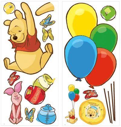 Vintage Roommates Disney Winnie the Pooh Pooh u Piglet Peel u Stick Giant Wall Decal