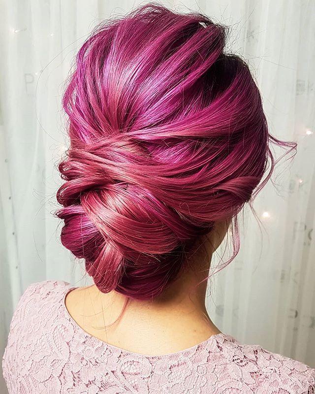 Ala I Jej Różowo Fioletowo Fuksjowe Włosy Uwielbiam