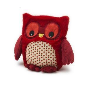 Bouillotte Peluche Naturelle Hibou Rouge HOOTY - Cet animal nocturne accompagnera votre petit dans son lit !Description :●Une bouillotte originale e