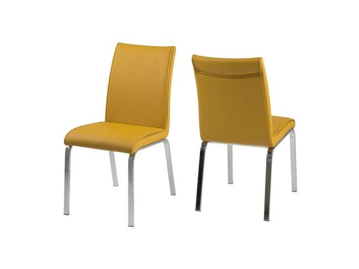 Krzesło Leonora żółte — Krzesła Actona — sfmeble.pl