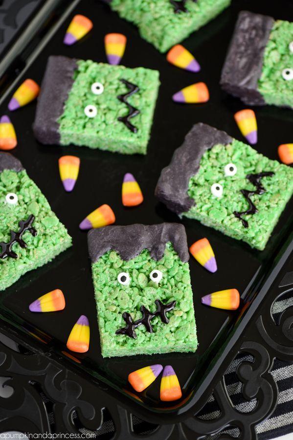 Frankenstein Rice Krispies Treats | Recipe | Halloween ...