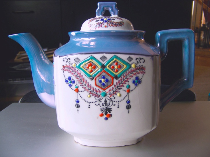 Teapot from the 1930's Japan Seiei & Co. Hand Painted
