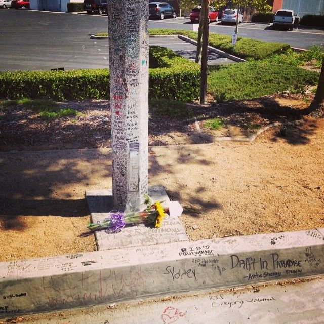 Visiting Paul walker crash site