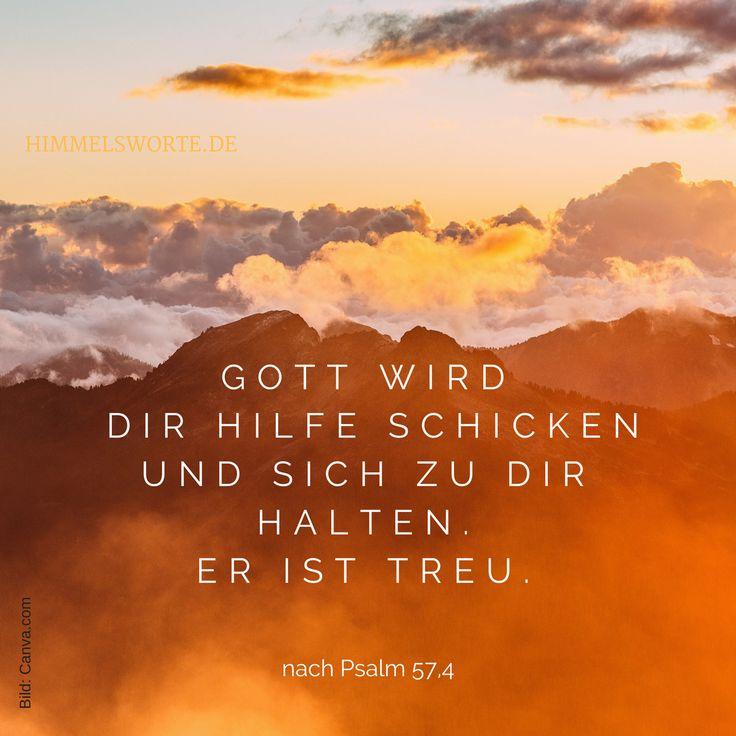 Himmelswort #3 - Gott wird dir Hilfe schicken und sich zu dir halten. Er ist treu. Psalm 57, Vers 4, Ps 57,4