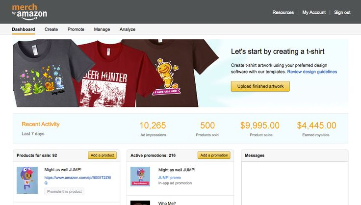 Announcing Merch by Amazon: A New Way to Generate Revenue with Branded T-Shirts - Amazon Mobile App Distribution Blog
