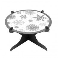 Snowflakes Tier Cake / Dessert Stand $12.95 20090599