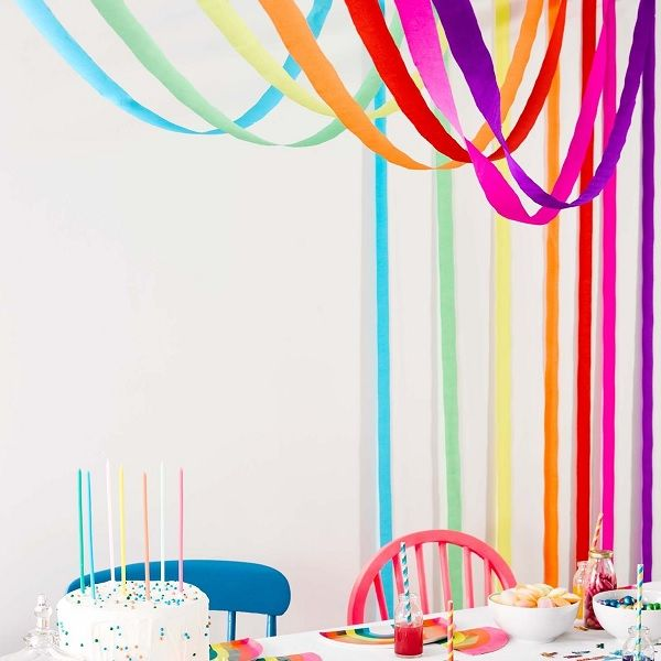 Regenbogen Deko-Kreppbänder, 7×10 Meter [TT-RAIN-STREAMER]