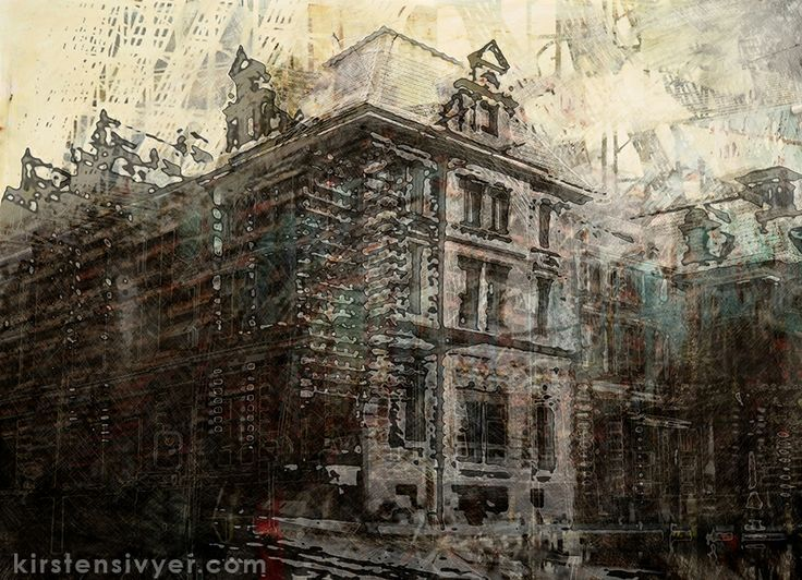 Old Perth Treasury Building. Finalist, 2013 Black Swan Prize for Heritage. Mixed Media, Painting and Photography, digital print, sizes variable. This artwork incorporates several 'time-lapse' views of this building with a history spanning more than 135 years. The building's recent surround of scaffolding can be seen peeking through the layers on photographic imagery, paint and distressed surface effects.