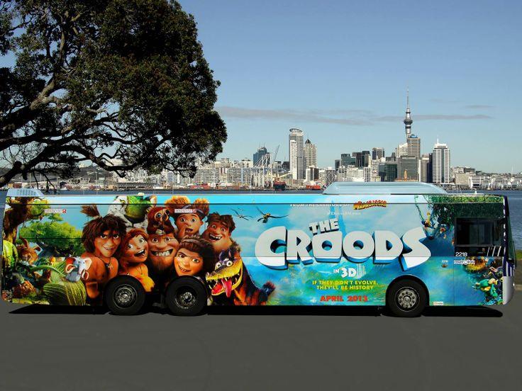 The Croods, Full Wrap panel, Auckalnd, NZ.