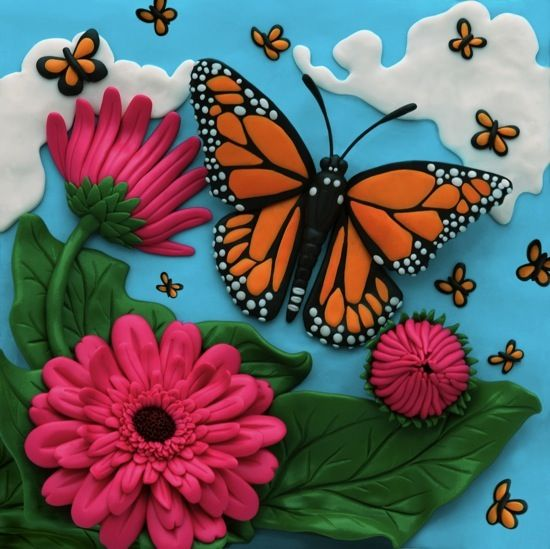Clay Illustration-Butterflies