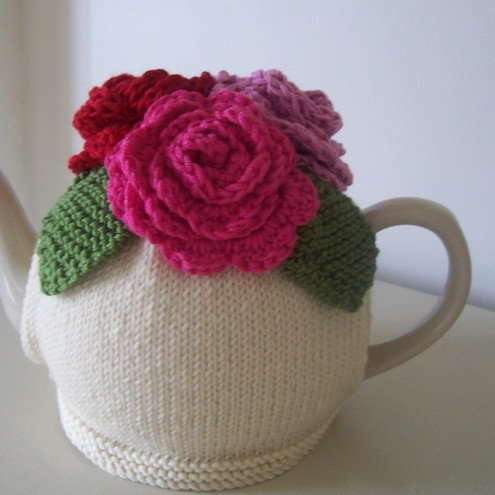 Knitting Pattern For Cow Tea Cosy : Gold Angel Wing Necklace Summer, Tea cosies and Rose tea