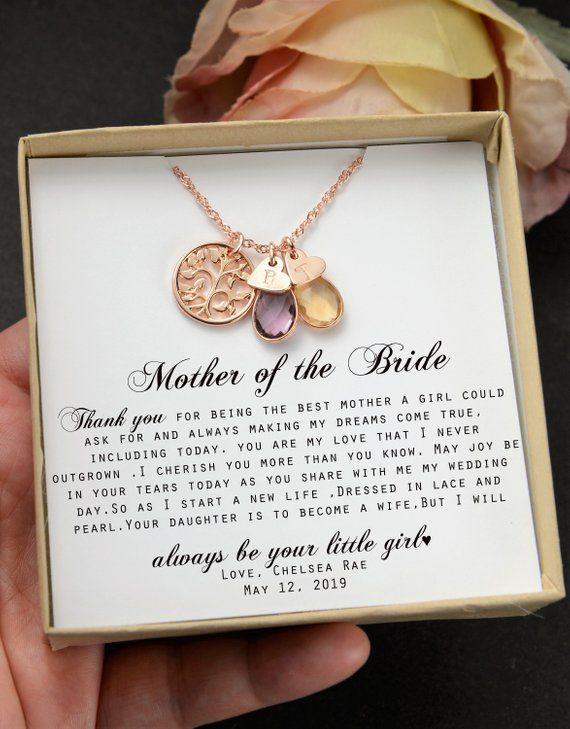 Mother Of The Bride Gift Necklace Wedding Gift Bridal Party