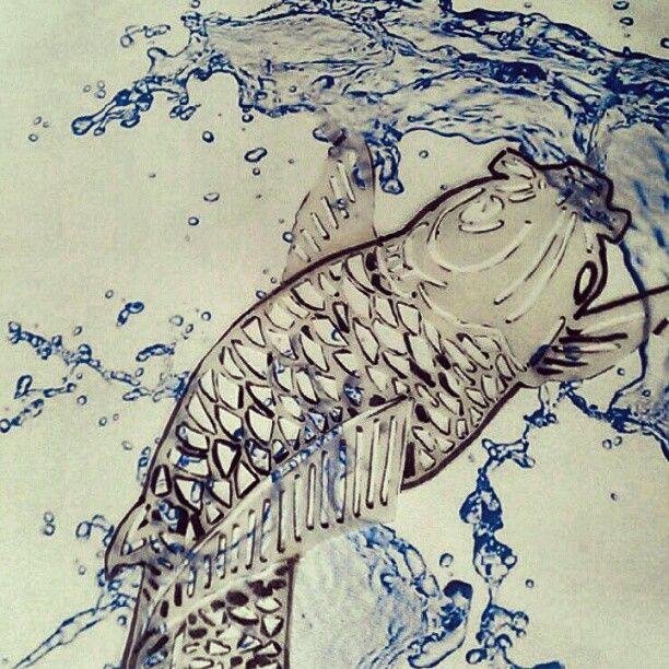#koi #water #art #papercut #cutout #tryout
