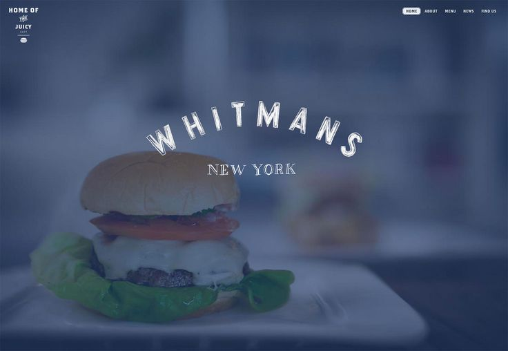 15+ food and restaurant web designs