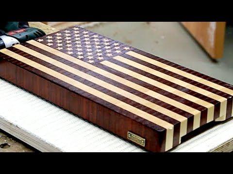 "Making a ""US flag"" end grain cutting board - YouTube"