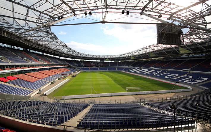 Download wallpapers HDI Arena, Hannover 96, football stadium, 4k, Hannover, Germany, sports arena