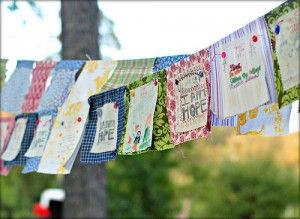DIY prayer flags. Been thinking of making these for a while. Maybe this summer?