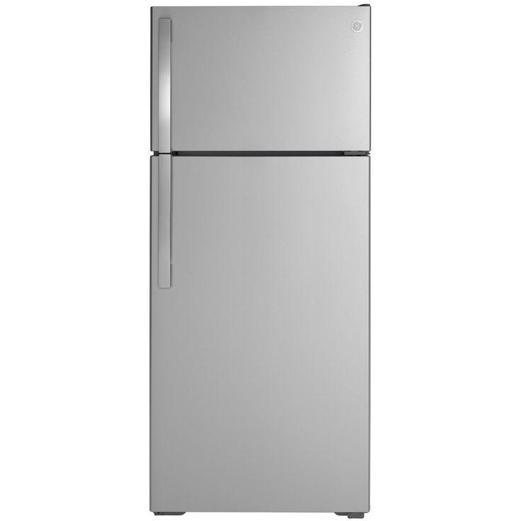 General Electric Gte18gsnrss In 2021 Top Freezer Refrigerator Refrigerator Glass Shelves