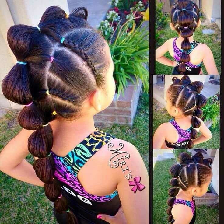Adorable girl braids More
