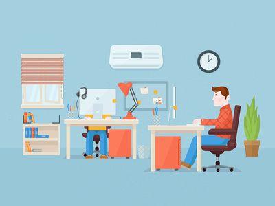 Flat Office