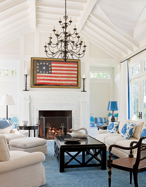 Osterville home cape cod catalano architect love the for Vaulted ceiling great room