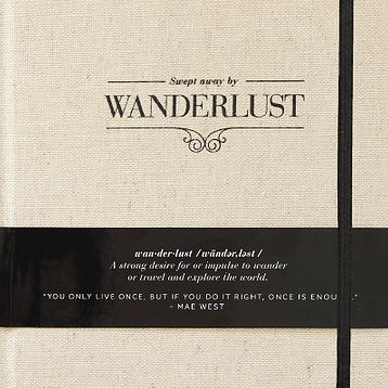 IN STOCK~WANDERLUST~swept away journal – at Someday boutique by way of Australia jet setters & explorer must have with room for journaling, drawing, list pages, TO-DO'S and more...