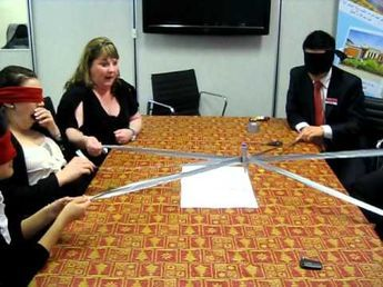 Robot Writer -- Duct Tape Teambuilding Game - YouTube