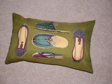 shoes --patchork --manuel canovas fabric- bolster cover   30 x 50 cm