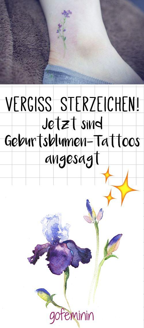 Wir lieben Geburtsblumen-Tattoos.