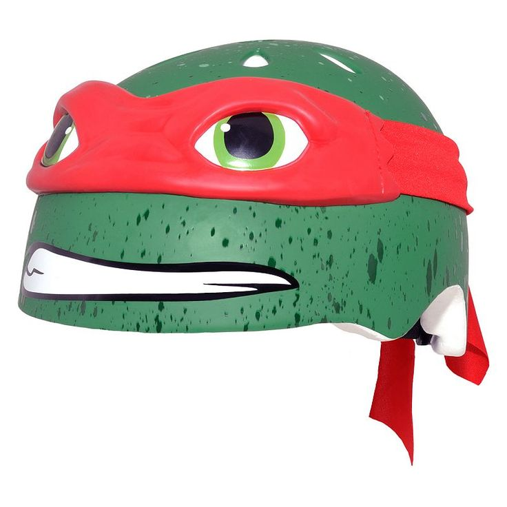 Youth C Preme Teenage Mutant Ninja Turtles Bike Helmet, Red