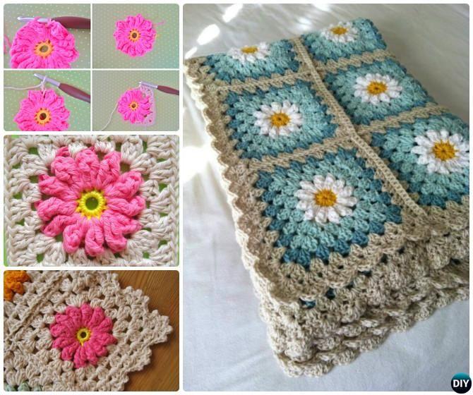 519 Best Crochet Granny Square Images On Pinterest Crochet