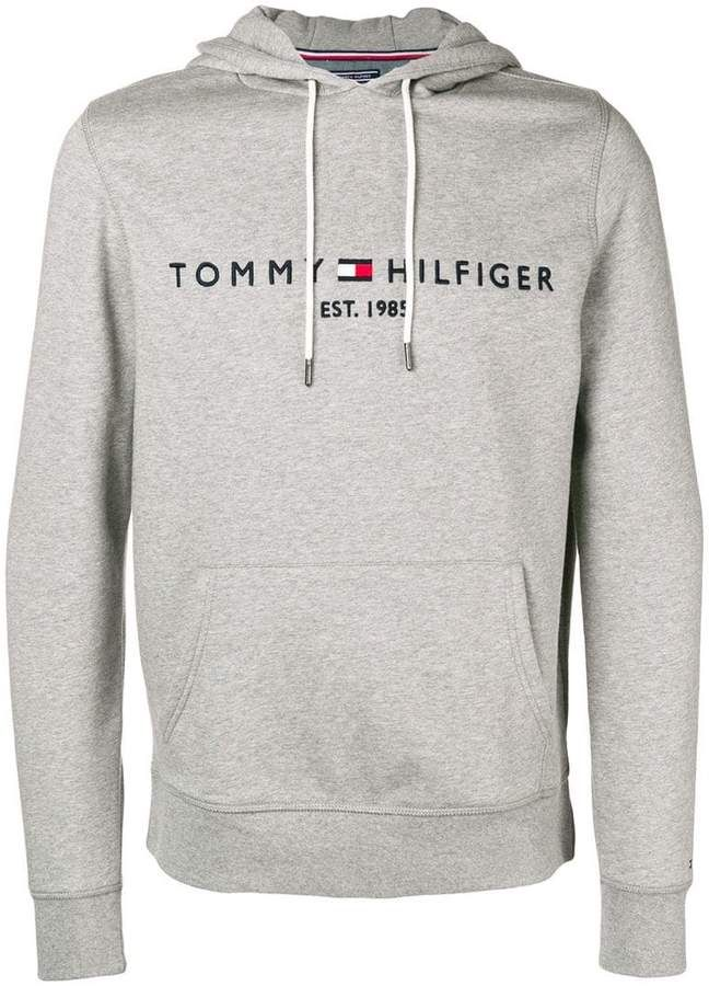 0ca9188e Tommy Hilfiger logo-embroidered hoodie | sweatshirts in 2019 | Tommy  hilfiger sweatshirt mens, Tommy hilfiger outfit, Tommy hilfiger sweatshirt