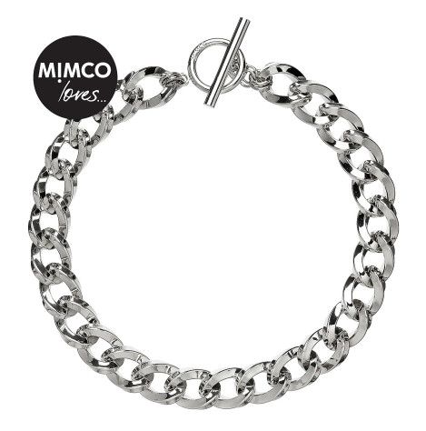 Mimco Nebula Chain Choker.  Make this chunky yet lightweight choker your go-to for day-to-night accessorising perfection. Crafted from aluminium and featuring a T&O clasp, wear it to the front to add a more embellished accent to your collarbone.