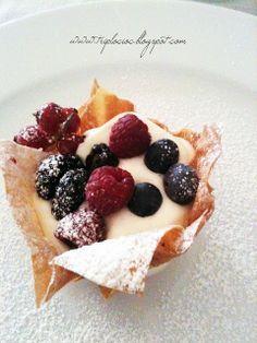 Il Mondo di Milla: Cestini di pasta fillo con crema al mascarpone e frutti di…