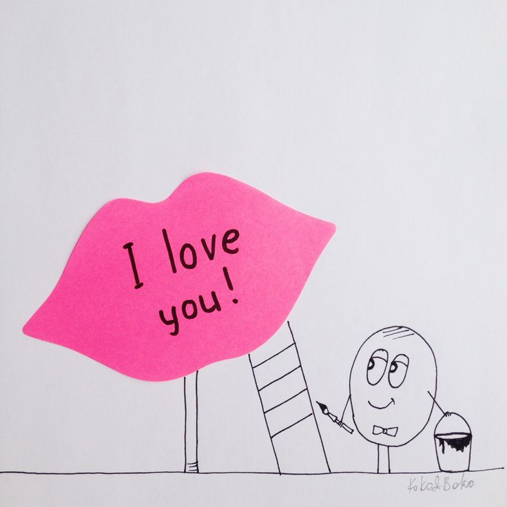 Don't wait just take a post-it note and write these simple words! ;) #kokoboko #boko #love #postitnote #story #happy #lips #smile #art #drawing #illustration #painting