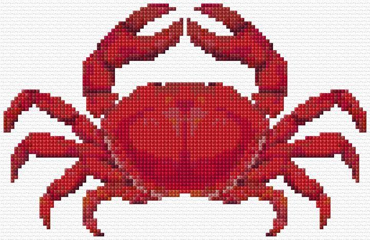 Cross Stitch   Crab xstitch Chart   Design