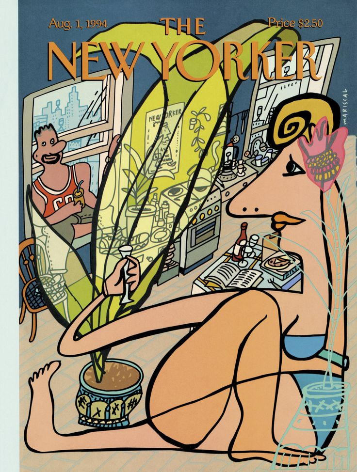 "The New Yorker - Monday, August 1, 1994 - Issue # 3620 - Vol. 70 - N° 22 - Cover ""Loft Life"" by Javier Mariscal"