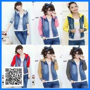 jaket chery jeans combi babyterry1