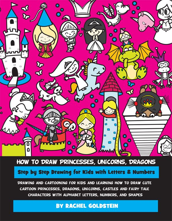 drawing princesses and fairy tale characters book for kids - Drawing Books For Kids