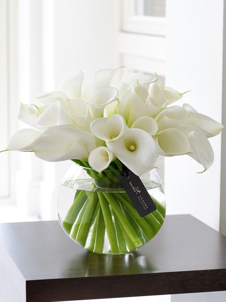 Luxury White Calla Lily Globe £124.99  Vase Included - Interflora