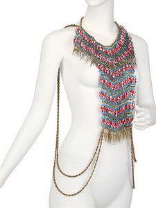 Anita Quansah London - The Nar Necklace / Body Jewel | FashionJug.com