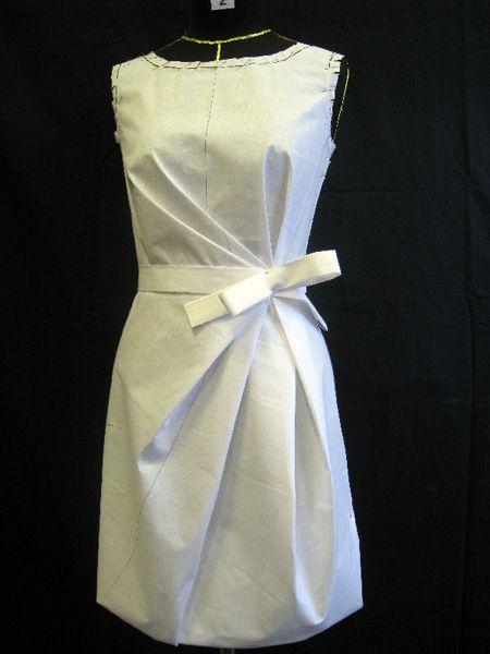 plis sur une robe